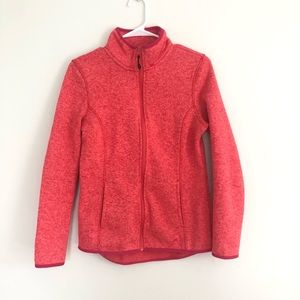 Athletic zip up sweater